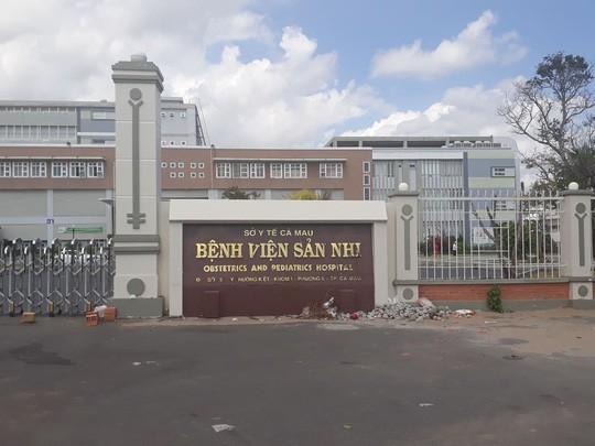 Bệnh viện Sản - Nhi Cà Mau, nơi chị Nhi được chuyển đến khi nghi chuyển dạ