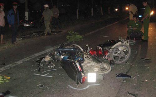 Hiện trường vụ án tai nạn giao thông