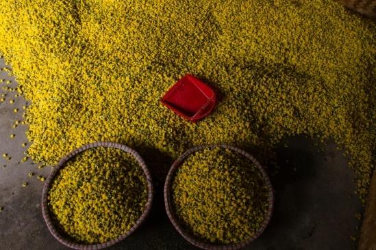 Thông thường đển sấy được 1kg hoa khô cần 7kg hoa tươi.