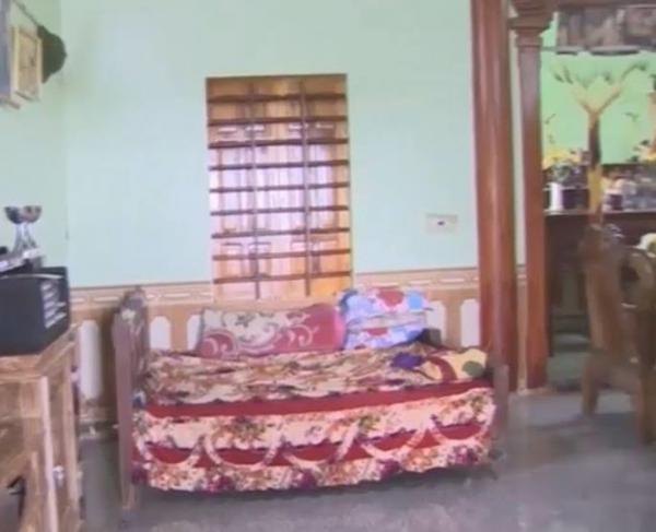 Căn nhà mới xây lại của gia đình Phạm Xuân Mạnh.