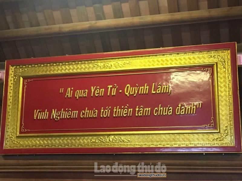 """Dân gian xưa đã lưu truyền câu ca """"Ai qua Yên Tử, Quỳnh Lâm/Vĩnh Nghiêm chưa tới Thiền tâm chưa thành""""."""