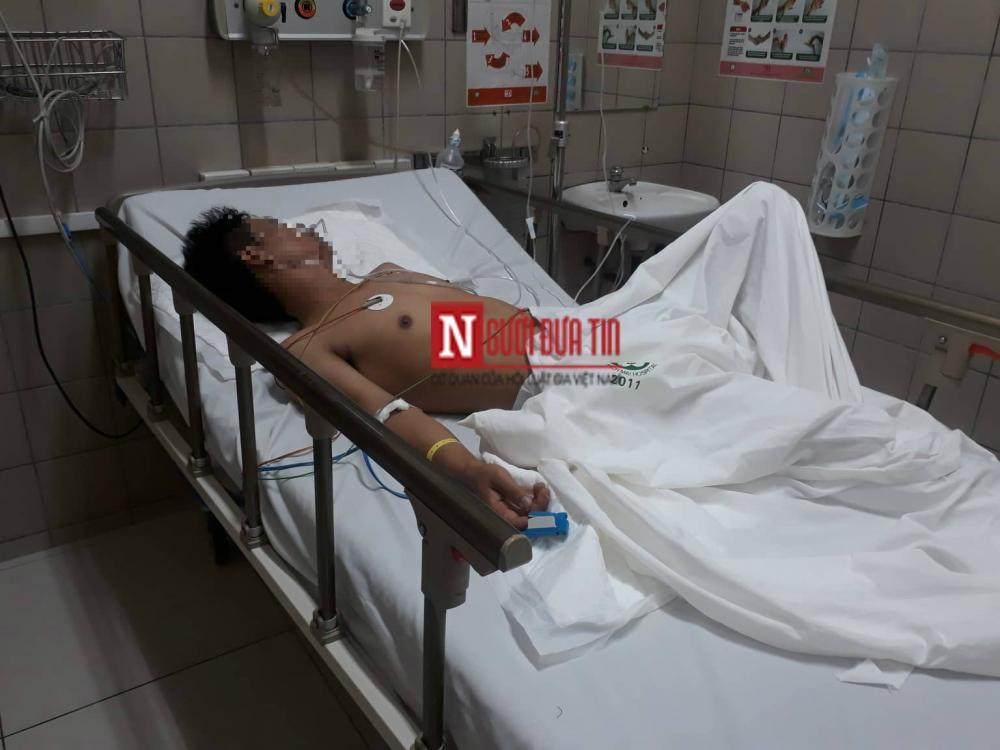 Anh Q. đang được điều trị tại bệnh viện.