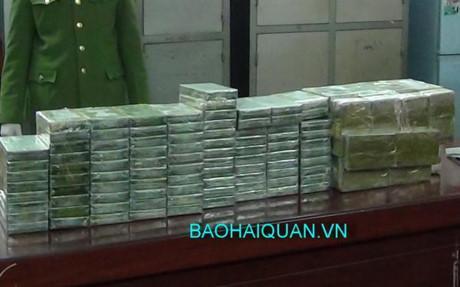 Số lượng heroin tang vật của vụ án. Ảnh: Hải quan Cao Bằng cung cấp.