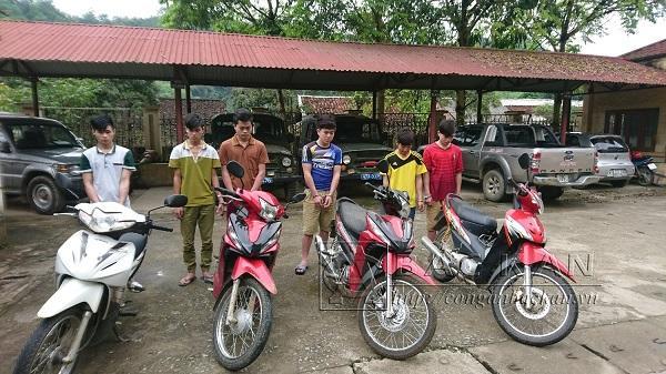 Các đối tượng này đã gây ra nhiều vụ trộm xe máy