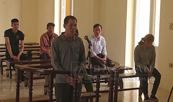 Triệu Văn Mạnh tại phiên tòa