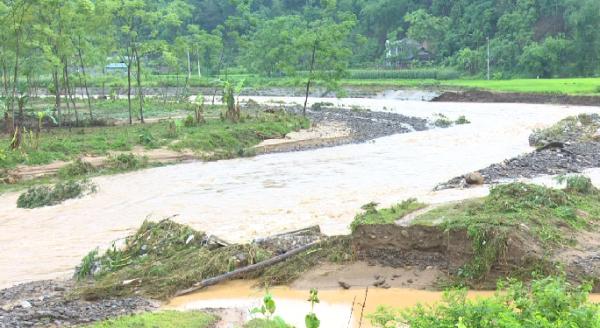 Mực nước lũ trên sông Cầu hiện đang xuống