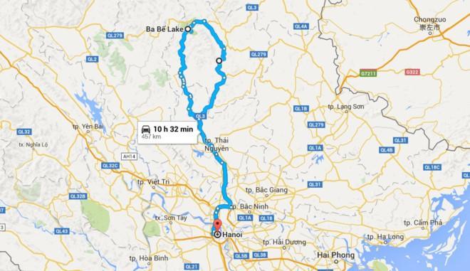 Đường đi Ba Bể xuất phát từ Hà Nội.