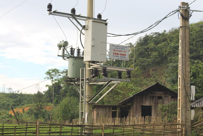 Việc thực hiện Dự án đưa điện về thôn bản khó khăn đợt 2 giai đoạn 1 đã giúp cho các hộ dân thôn Thái Lạo được sử dụng điện lưới Quốc gia.