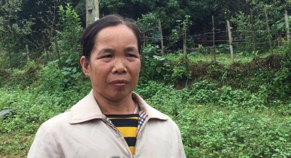 Bà Đinh Thị Trịnh chưa hết bàng hoàng trước trận sạt lở kinh hoàng.