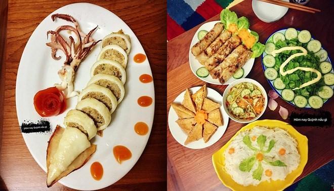 Những bữa ăn trưa của Ngọc Quỳnh được dân mạng chú ý bởi màu sắc