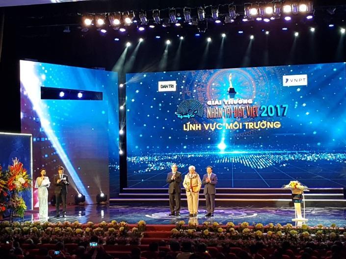 Giải thưởng lĩnh vực môi trường thuộc về Công trình bảo tồn đa dạng sinh học dãy Trường Sơn.