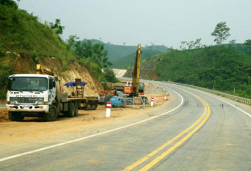 Dự án BOT Đầu tư xây dựng tuyến đường Thái Nguyên - Chợ Mới và nâng cấp, mở rộng Quốc lộ 3 đoạn Km75 - Km100 đã thông xe từ tháng 3/2017. Ảnh: Nhã Chi