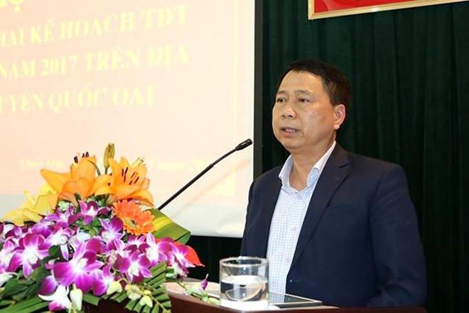 Chủ tịch huyện Quốc Oai Nguyễn Hồng Lâm mất tích nhiều ngày. Ảnh: Cổng TTĐT huyện Quốc Oai .