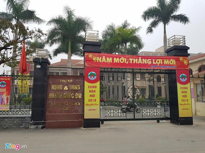 Trụ sở UBND huyện Quốc Oai, TP Hà Nội. Ảnh: Thắng Quang.