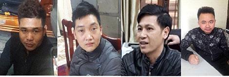 Các đối tượng Trần Văn Bằng, Phan Văn Hiển, Nông Thanh Hoan, Trần Văn Thành.
