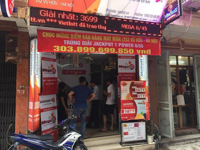 Cửa hàng Vietlott số 252 Vũ Hữu.