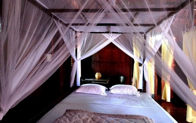 Chỗ ngủ trong Homestay nhà sàn Hòa An - Ảnh: Dương Minh Bình