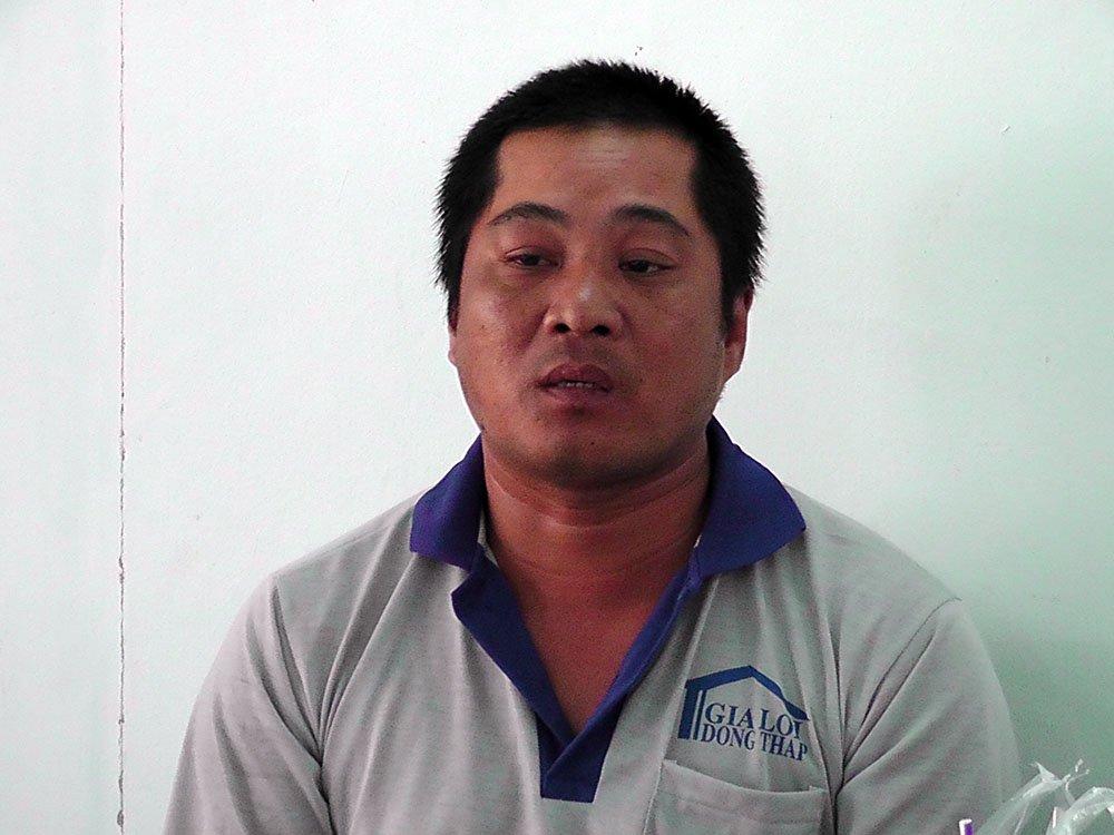 Phan VănLanh tại cơ quan điều tra. Ảnh: C.A