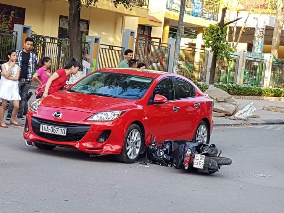 Vụ tai nạn giữa xe ô tô BKS 14A-057.10 với xe mô tô 14K1-207.05.