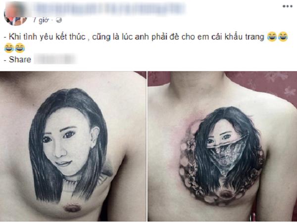 Bài chia sẻ cùng bức ảnh của chàng trai đăng tải khiến dân mạng xôn xao