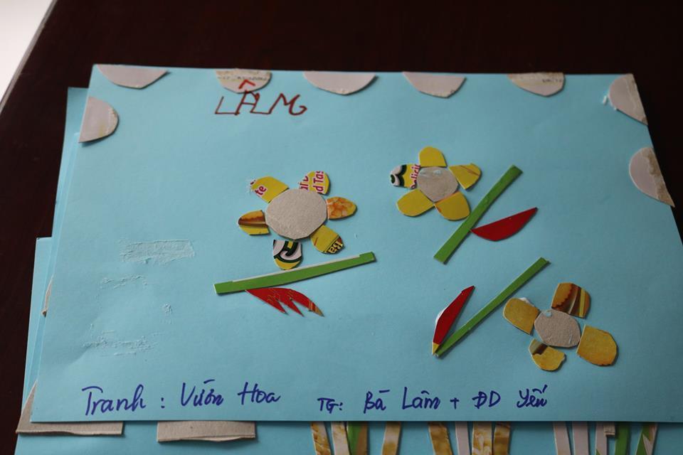 Tác phẩm do bà Lâm, một thành viên của viện dưỡng lão thực hiện (Ảnh: Viện dưỡng lão cung cấp)