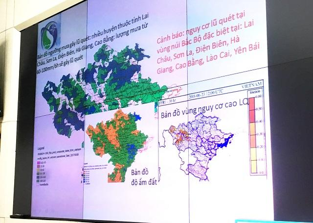 Bản đồ cảnh báo nguy cơ lũ quét, sạt lở đất do mưa lũ tại các tỉnh phía Bắc