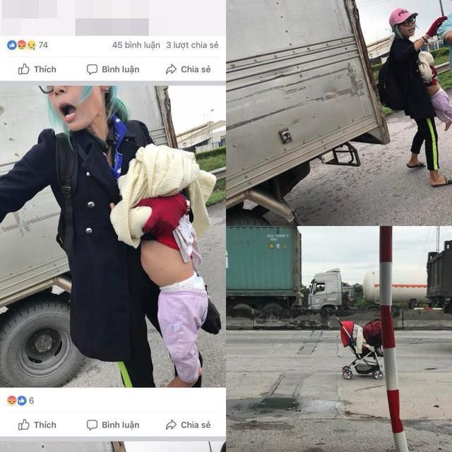 Những hình ảnh của người mẹ này bị tố bạo hành con.