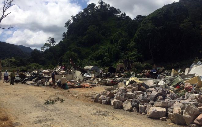 Căn nhà của Nguyễn Thanh Tuân đã bị san phẳng. Ảnh: H A.