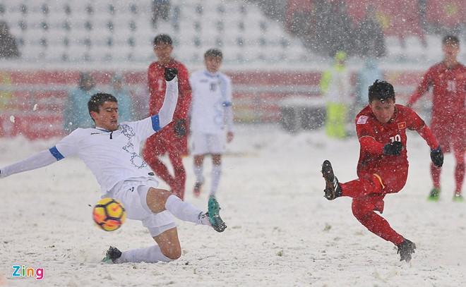 Quang Hải (phải) sẽ có cơ hội xé lưới U23 Uzbekistan một lần nữa. Ảnh: Tùng Lê.