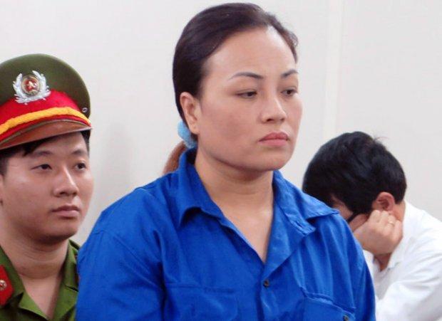 Đặng Minh Châu tại phiên tòa sơ thẩm hồi tháng 4/2017. Ảnh: Zing.vn.