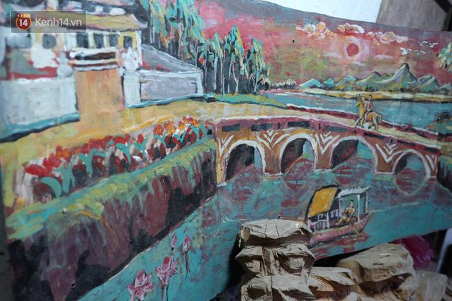 Một tác phẩm vẽ bằng sơn của Nguyễn Như Ý.