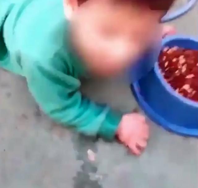 Cậu bé đã khóc rất nhiều nhưng người mẹ vẫn không chịu tha.