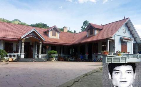 Nhà của Nguyễn Thanh Tuân (ảnh nhỏ) tại quê nhà ở huyện Thạch Thất, Hà Nội (ảnh lớn)