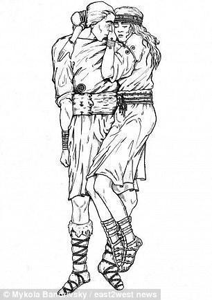 Hình minh họa cho tư thế của cặp đôi.