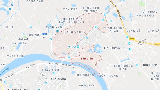 Tuyến đường thuộc các xã Yên Viên, Đình Xuyên - huyện Gia Lâm.