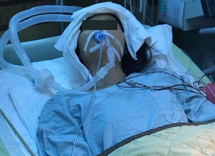 Chị H. trong thời gian điều trị tại một bệnh viện ở TP. Cao Hùng, Đài Loan