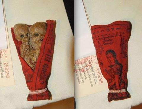 Một kuman thong giả được bày bán công khai như một thứ quà lưu niệm tại ngôi chùa ở Ayutthaya, Thái Lan
