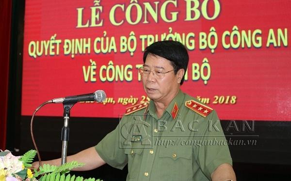 Thượng tướng Bùi Văn Nam, Ủy viên Trung ương Đảng, Thứ trưởng Bộ Công an đã chủ trì tổ chức lễ (Ảnh: Công an Bắc Kạn).