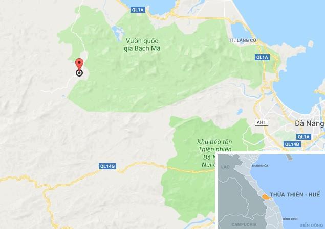 Xã Hương Hòa (huyện Nam Đông), địa phương xảy ra sự việc. Ảnh: Google Maps.