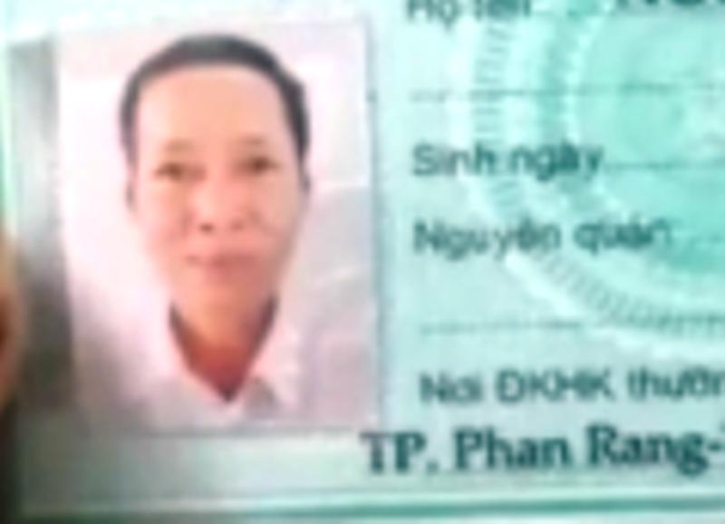Giấy tờ tùy thân mang theo của ông Nguyễn Đức H.