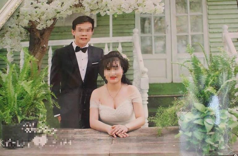 Ảnh cưới của chú rể Long và cô dâu trẻ