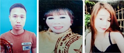 Ba đối tượng Công, Cúc và Ngọc (từ trái qua) trong đường dây lừa bán phụ nữ sang Trung Quốc - Ảnh: Báo Bà Rịa-Vũng Tàu