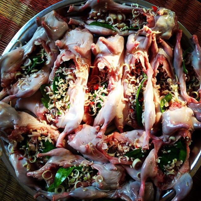 Thịt chuột: Tại một số địa phương ở miền Bắc như Từ Sơn (Bắc Ninh); Thạch Thất, Hoài Đức (Hà Nội), thịt chuột là một đặc sản không thể thiếu trong mỗi dịp lễ quan trọng. Món ăn không chỉ khiến du khách nước ngoài sợ hãi mà người Việt đôi khi còn dè chừng không dám ăn.