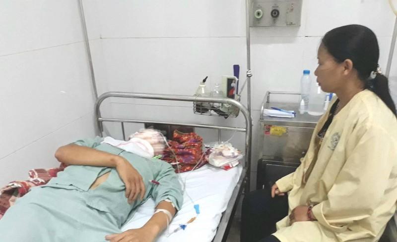 Bệnh nhân hiện đang nằm điều trị tại Bệnh viện Tai Mũi Họng Trung ương