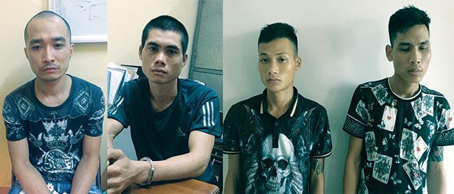 Các đối tượng Đào Xuân Thắng, Hồ Quang Hùng,  Nguyễn Văn Thanh và Bùi Huy Phượng.