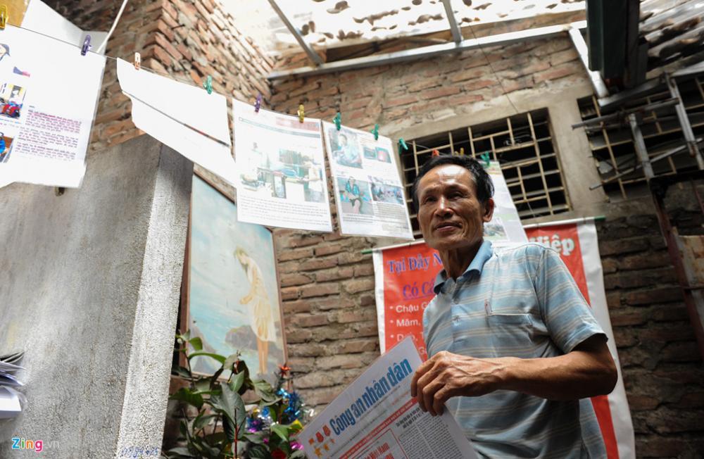 Ông Nguyễn Thế Hiệp, chủ nhân dãy nhà trọ giá rẻ vừa bị thiêu rụi trong đêm 17/9 (ảnh chụp năm 2016). Ảnh: Việt Hùng.