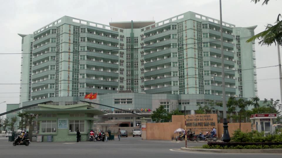 Bệnh viện Phụ sản - Nhi Đà Nẵng nơi bé K. nhập viện.