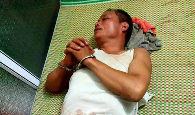 Nguyễn Văn Tiến bị bắt giữ. Ảnh: Công An Nhân Dân.