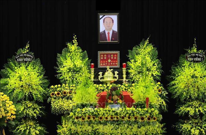 Nhà tang lễ quốc gia, số 5 Trần Thánh Tông (Hà Nội), nơi tổ chức Quốc tang Chủ tịch nước Trần Đại Quang.