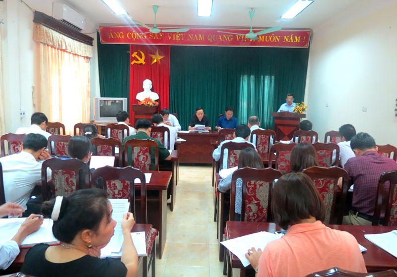 Các đại biiểu tham dự hội nghị Ban chấp hành